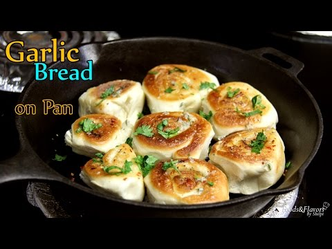 No Oven Garlic Bread Recipe | Pan/Tawa Garlic Bread Rolls-Easy Tea Snacks recipe/kids snacks ideas