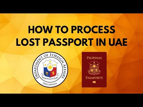 How To Process Lost Passport