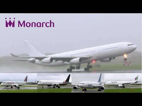 CAA Monarch Relief Flights at Manchester Airport. INC: A310, A330, A340 + More!!