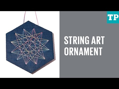 How to make a string art ornament