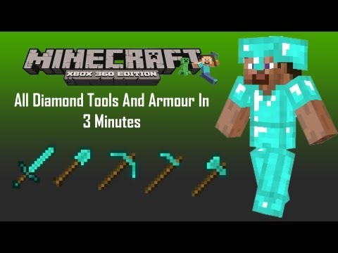 Minecraft Xbox 360: How To Get A Full Set Of Diamond Armour And Tools ✪ Under 3 Min's ✪