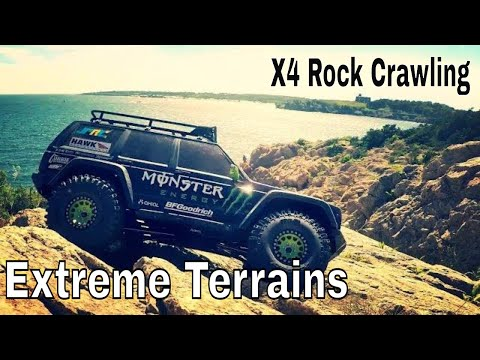 Axial SCX10 II Testing Proline Hyrax On Rocks - 2017 New England Monster Show Down