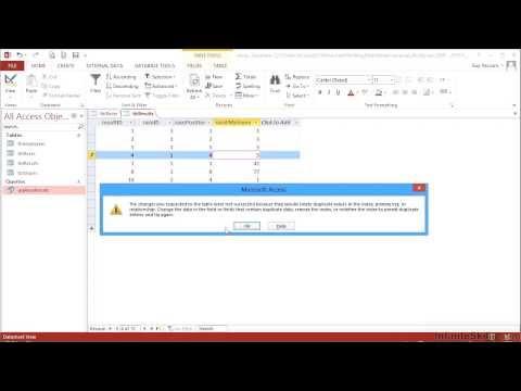 Advanced Microsoft Access 2013 Tutorial | Multiple Field Primary Keys