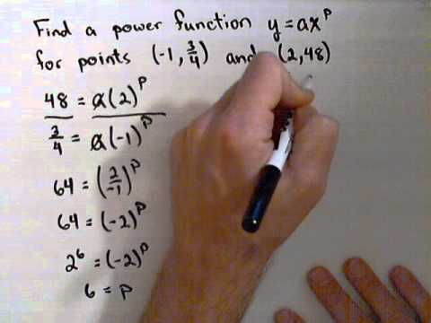 Finding a Power Function Through 2 Points