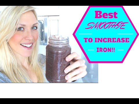 THE BEST SMOOTHIE TO INCREASE IRON AND HEMOGLOBIN LEVELS - ANEMIA