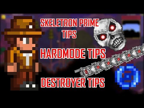 Terraria 1.3.5 - Basic Tips/Guide for Hardmode, Destroyer, and Skeletron Prime (w/ Someguy)