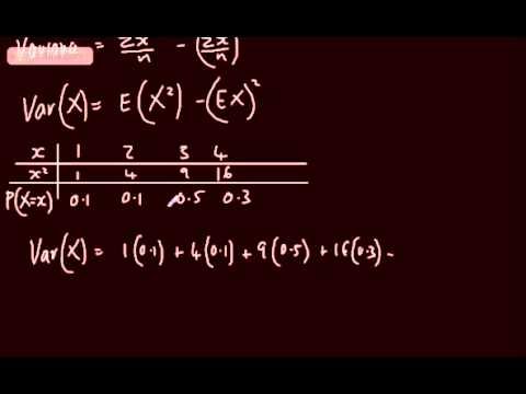 Discrete Random Variables 3)   Expected Value (Mean and Variance)