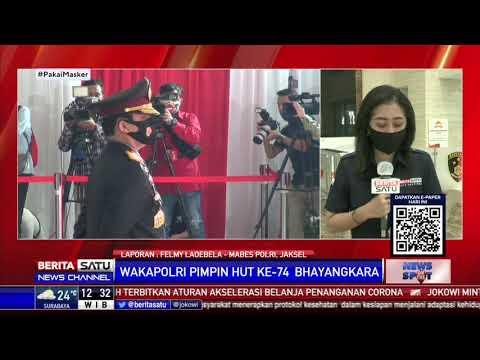 Wakapolri Pimpin Upacara HUT Ke-74 Bhayangkara di Mabes Polri