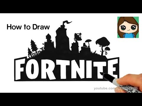 How to Draw Fortnite Logo Easy