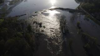 Breach in Sanford Dam embankment drains mid-Michigan lake