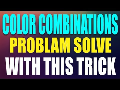 CorelDraw x7 Tutorial - Color Combinations Problam Solve Copy Any Color With this trick By AS GRAPHI