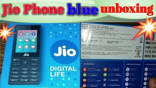 Jio Phone Blue Box Unboxing 2018(model Lf-2403n) By-techz Reviewer