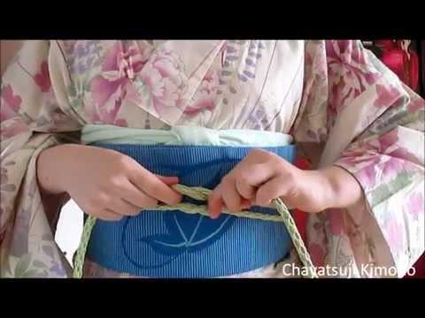 Chayatsuji Kimono | How to tie the obijime