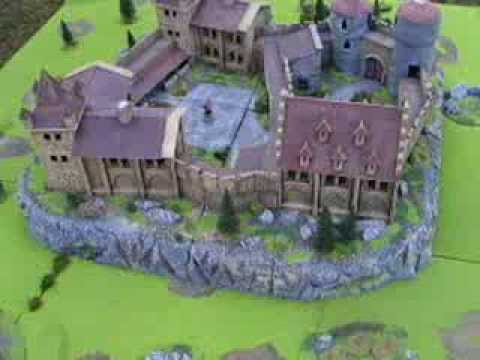 Medieval Castle for  miniature (Size: 44 x 44 inch)