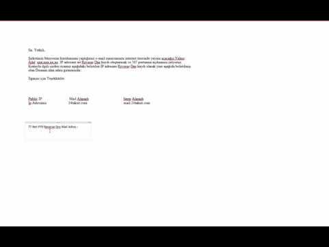 Reverse DNS PTR Kaydı Oluşturmak TTNET Mail dresi