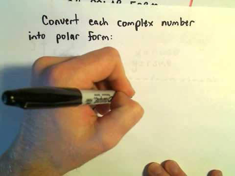 Expressing a Complex Number in Trigonometric or Polar Form, Ex 1