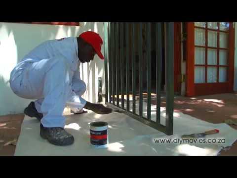 Repair peeling paint on a SECURITY GATE