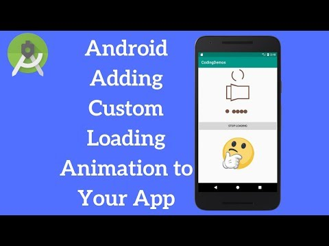 Android Loading View - Add Spinner And Dot Loading Animation (Demo)
