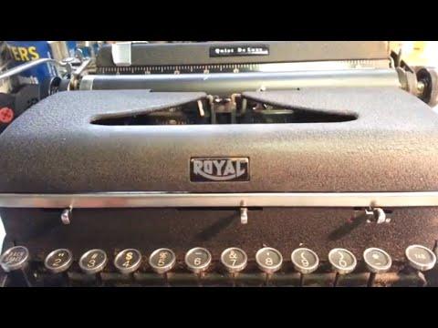 Royal Typewriter vs WD-40, Vintage Quiet De Luxe Excessive Oil Fail