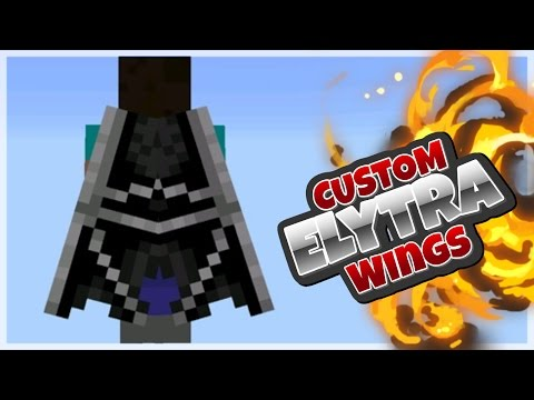 MCPE 1.4+ // HOW TO GET CUSTOM ELYTRA WINGS ON IOS AND ANDROID !?!!