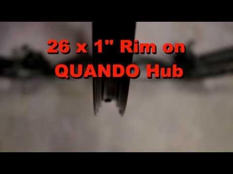 Black Anodized Aluminum Alloy 36 spoke hole mountain bike RIM on QUANDO PC hub_01