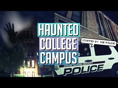 STOPPED BY THE POLICE AT A HAUNTED COLLEGE CAMPUS!