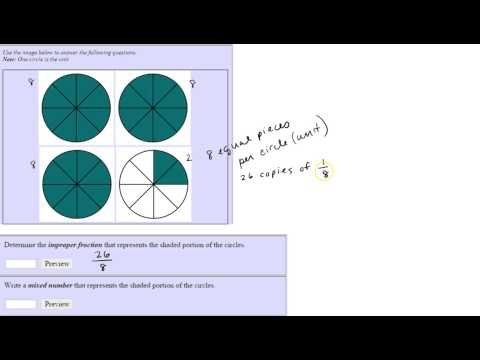 Mixed Numbers and Improper Fractions with Circles