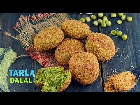 हरा भरा कबाब (Hara Bhara Kebab Vegetarian Kebab Recipe) by Tarla Dalal