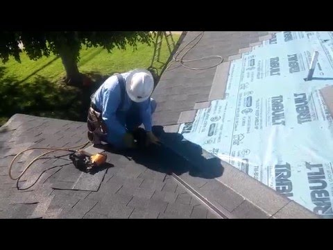HOW TO VIDEO: Roofing Basics ...Installing a valley on a shingle roof...the easiest and fastest way