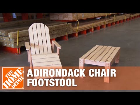 How to Build A Footstool for an Adirondack Chair