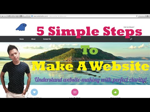 5 Simple Steps To Make A Website | Step By Step | Website Tutorial For Beginners
