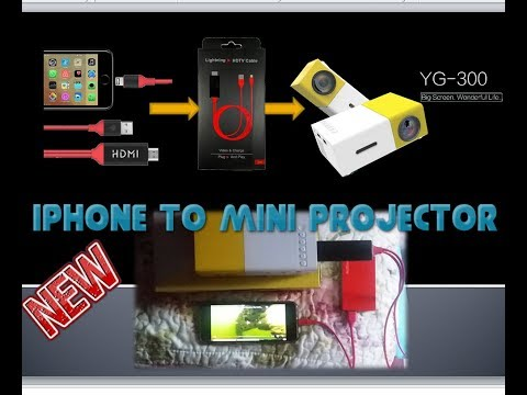 How to connect iPhone to mini projector - Part 1 || 2018