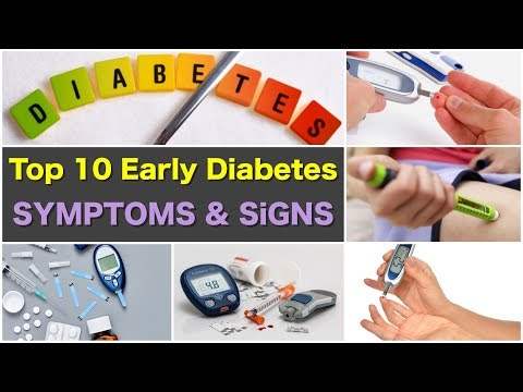 Top 10 Early Diabetes Symptoms and Signs | Diabetes Type 1 Symptoms and Diabetes Type 2 Symptoms