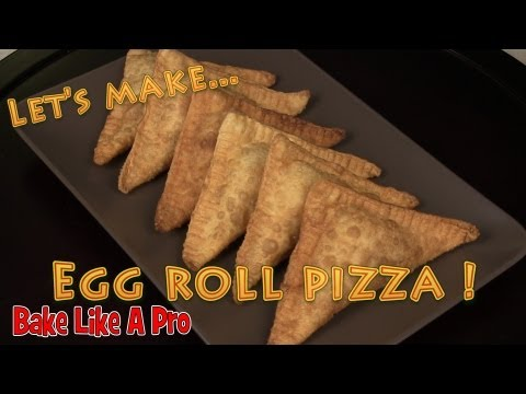Easy Egg Roll Pizzas Recipe by BakeLikeAPro