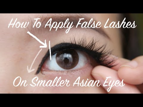 How to Apply Fake Lashes on Monolids & Asian Eyes