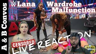 LIVE REACTION - Lana Has WARDROBE MALFUNCTION Going Thru A Table..Again! | Monday Night Raw 11/9/20