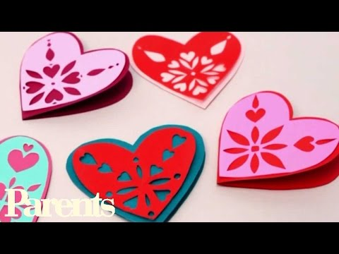 Easy Valentine's Day Craft - Paper Snowflake Hearts | Parents