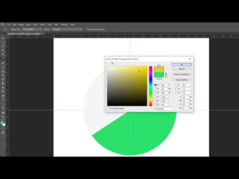 How to create a Pie chart using pen tool in Photoshop
