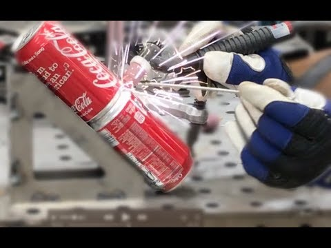 Tig Welding Coke Cans That are Full?  BOOM!