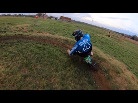 WE MADE A BRAND NEW PIT BIKE TRACK IN A FIELD !!!!