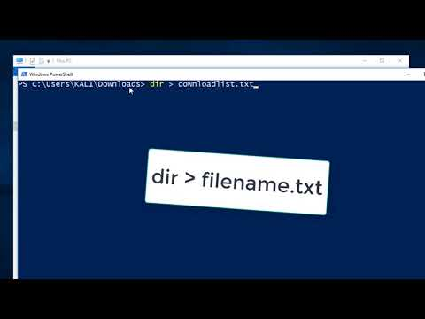 CREATE A NOTEPAD FILE LISTING ITEMS IN ANY FOLDER USING WINDOWS 10 POWERSHELL