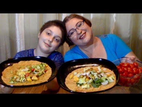 Lime, Garlic, BBQ Chicken Wrap | Gay Family Mukbang (먹방) - Eating Show