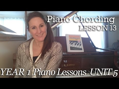 Piano Chording Lesson 13 [5-13] Chord Inversions - Early one Morning- Tutorial