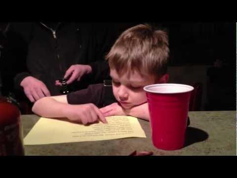 My Nephew Boe doing his reading homework