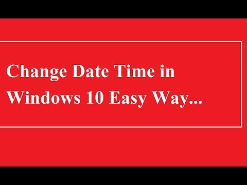How to Change Date Time in Windows 10 PC | Computer | Laptop - Easy Way