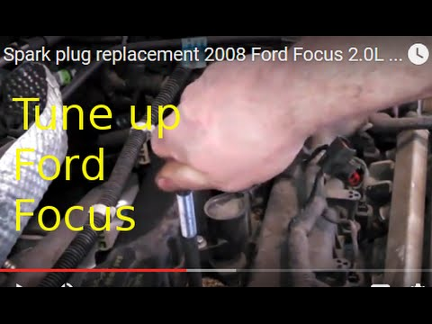 Spark plug replacement 2008 Ford Focus 2.0L ignition coil. How to change plugs
