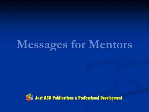 Messages for Mentors