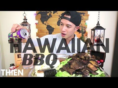 [mukbang with THIEN]: Hawaiian BBQ (Beef Ribs, Kalbi Short Ribs, and Spam Musubi)