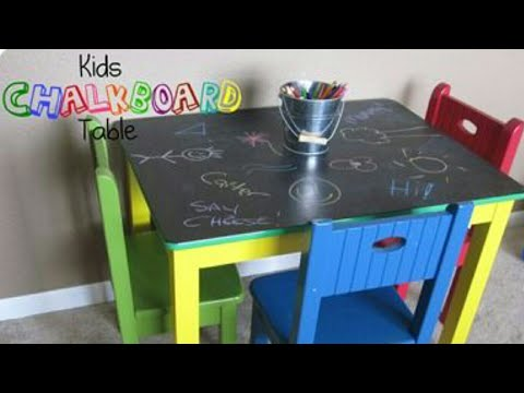 Chalkboard Table - Thrift Store DIY | Chalk Table Art - DIY craft project GREAT for kids and teens