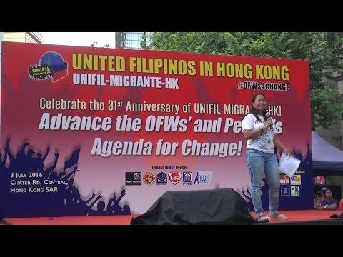 United Filipinos in Hong Kong calls for change at 31st-anniversary celebration